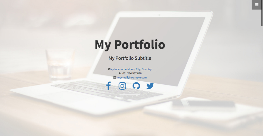 Bootstrap One Page Website Template Simplecodetips